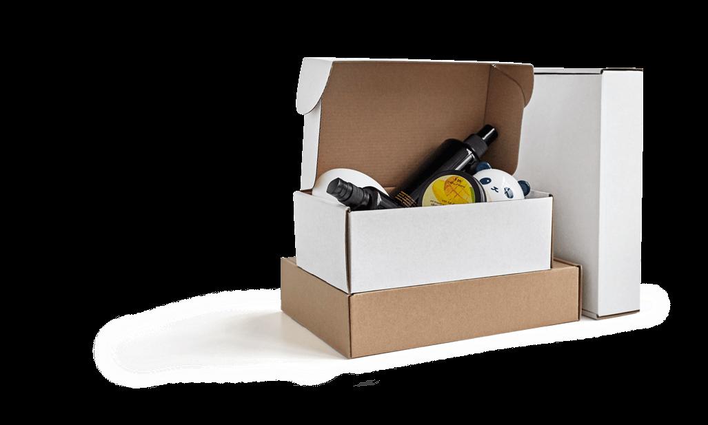 blank mailer box