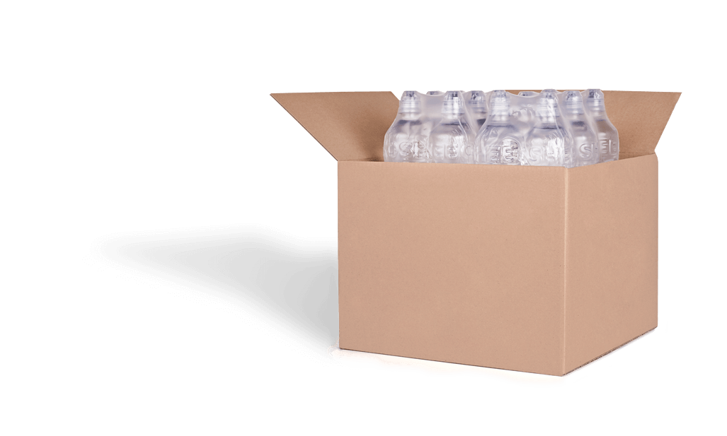 blank shipping box