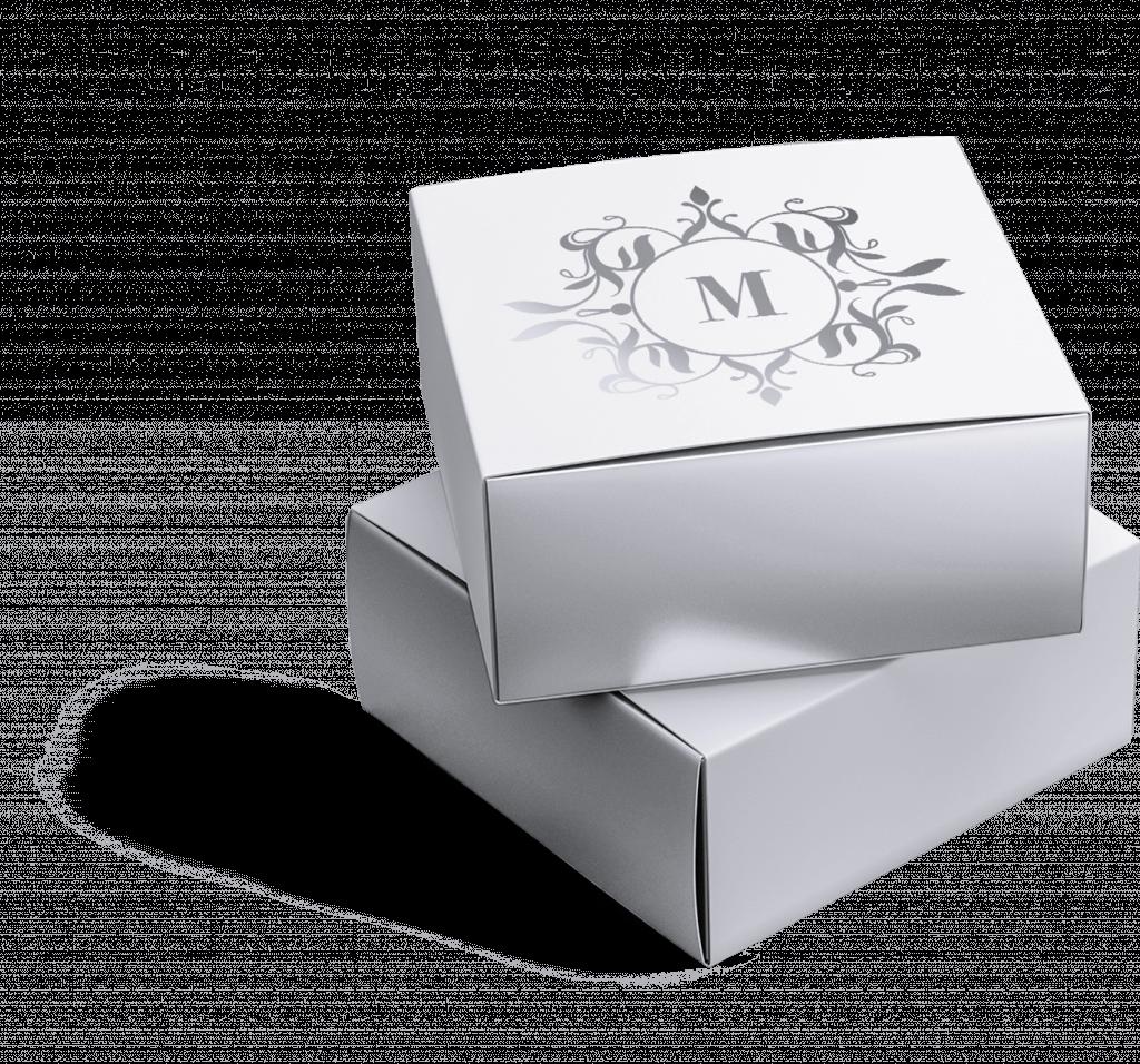 małe pudełka kartonowe metalizowane
