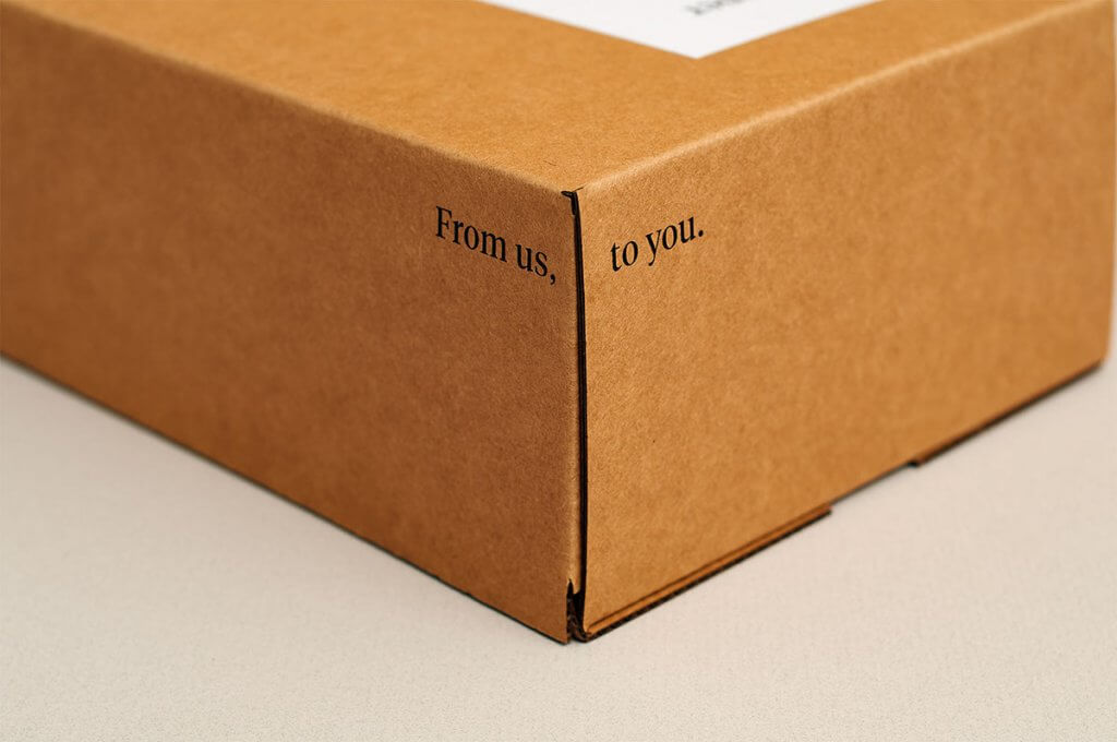 from us to you packaging design