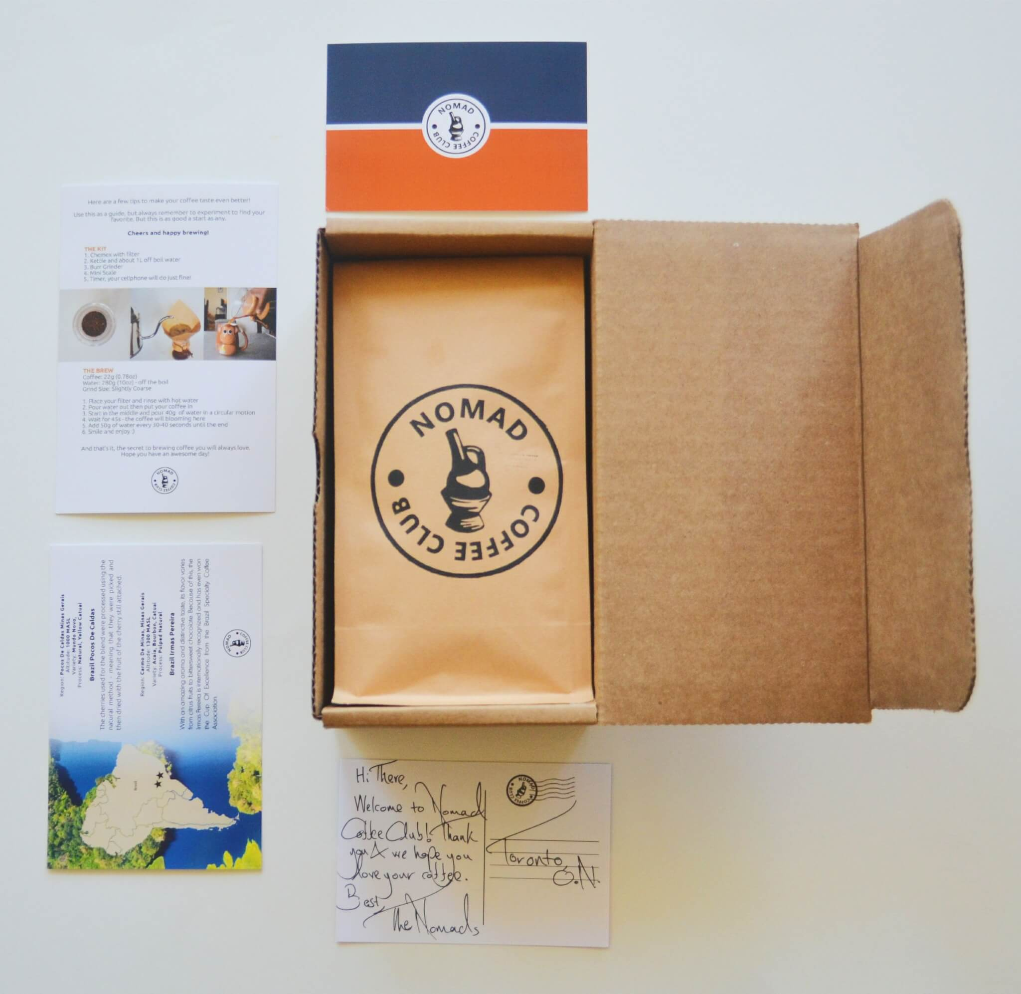 nomad coffee club subscription box packhelp