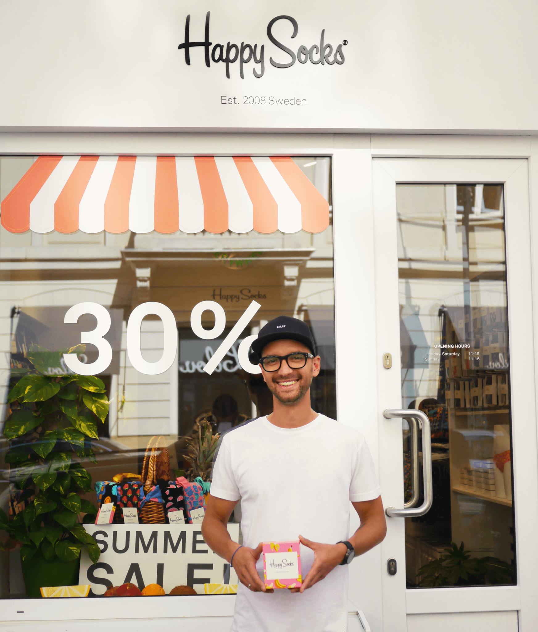 El fundador de Happy Socks nos enseña su tienda física
