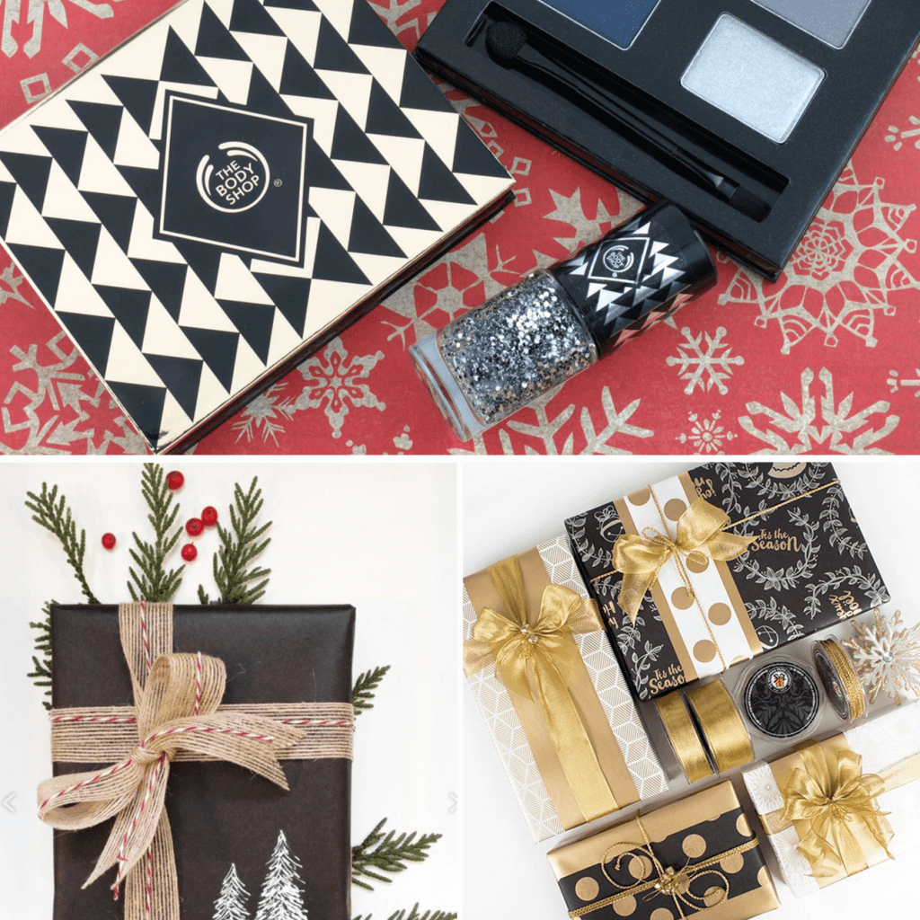 black and gold christmas packaging ideas