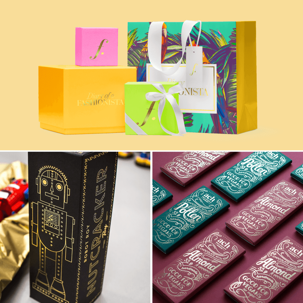 hot stamping ideas for christmas packaging