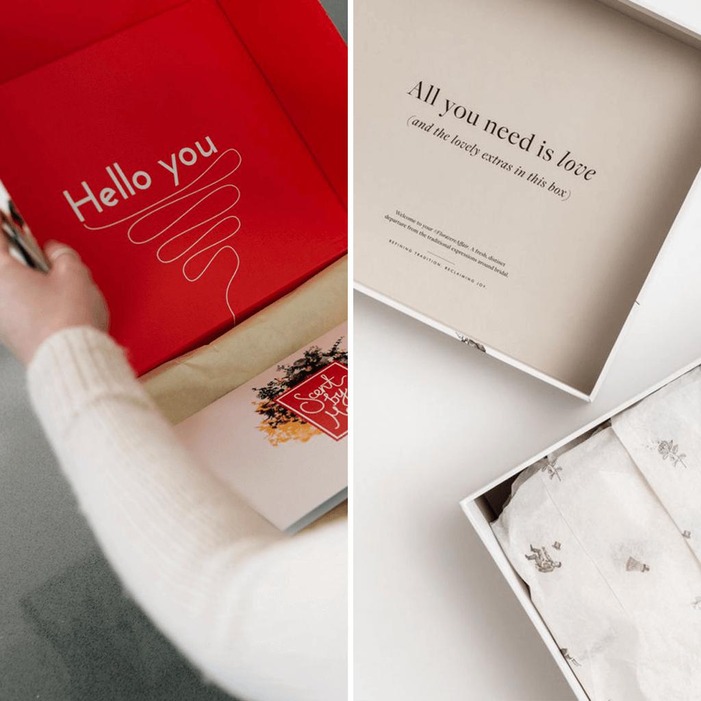 Impresión en el interior de la caja personalizada