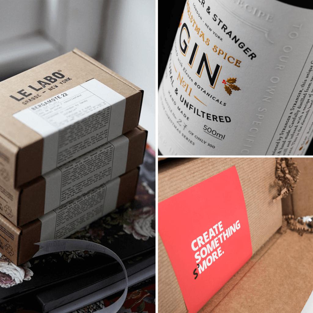 Etiquetas del packaging de navidad