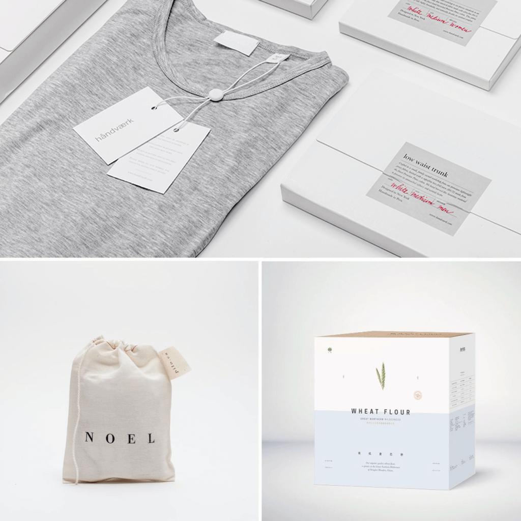 el packaging del estilo minimalismo