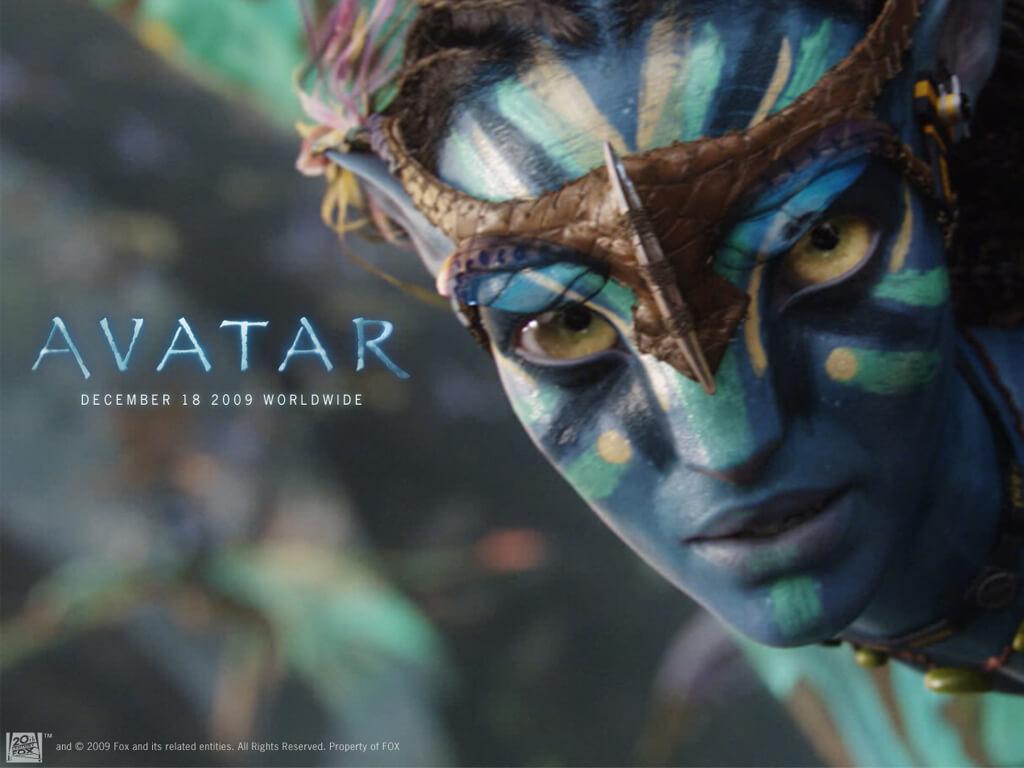 Affiche du film Avatar avec sa police Papyrus