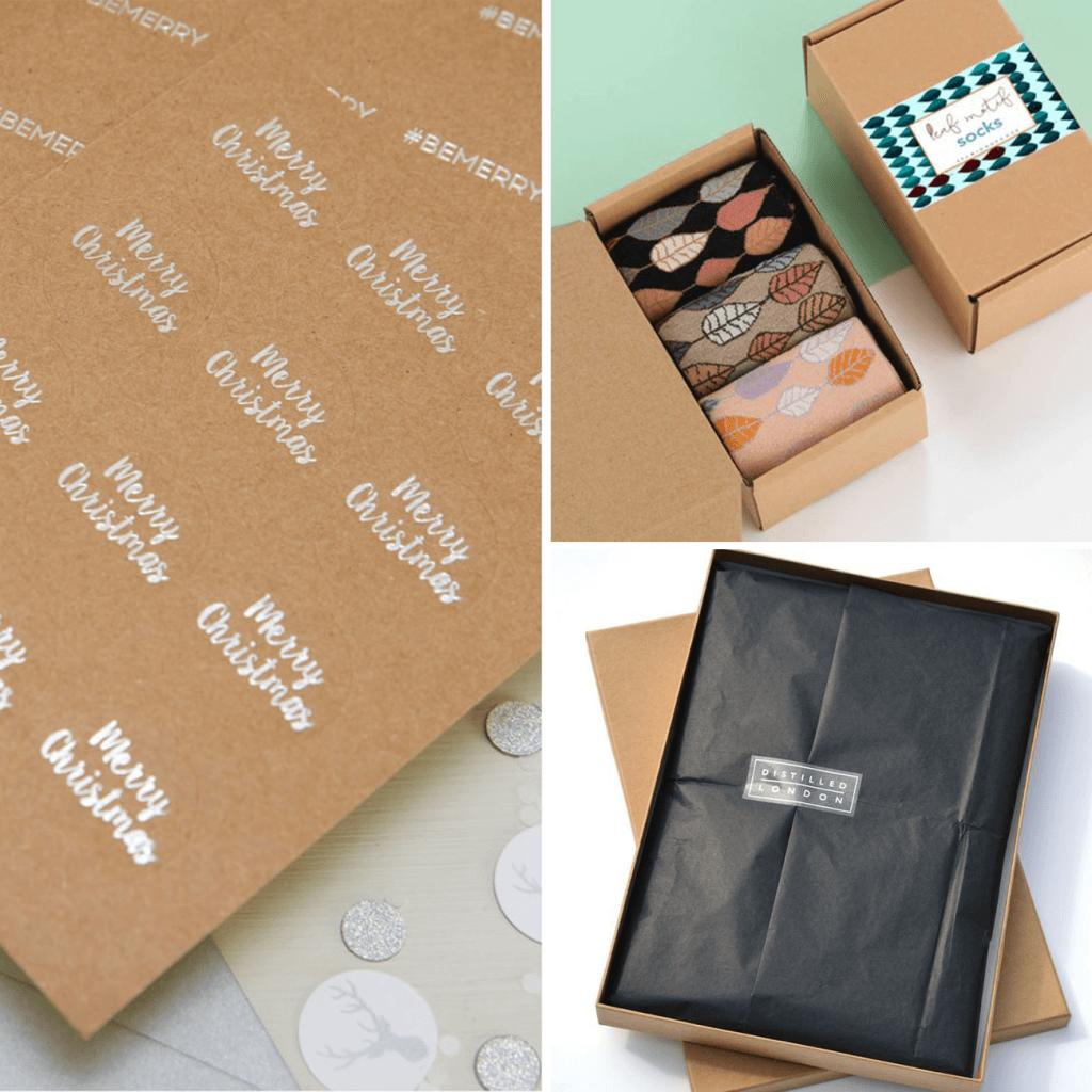 pegatinas de Navidad para tu packaging