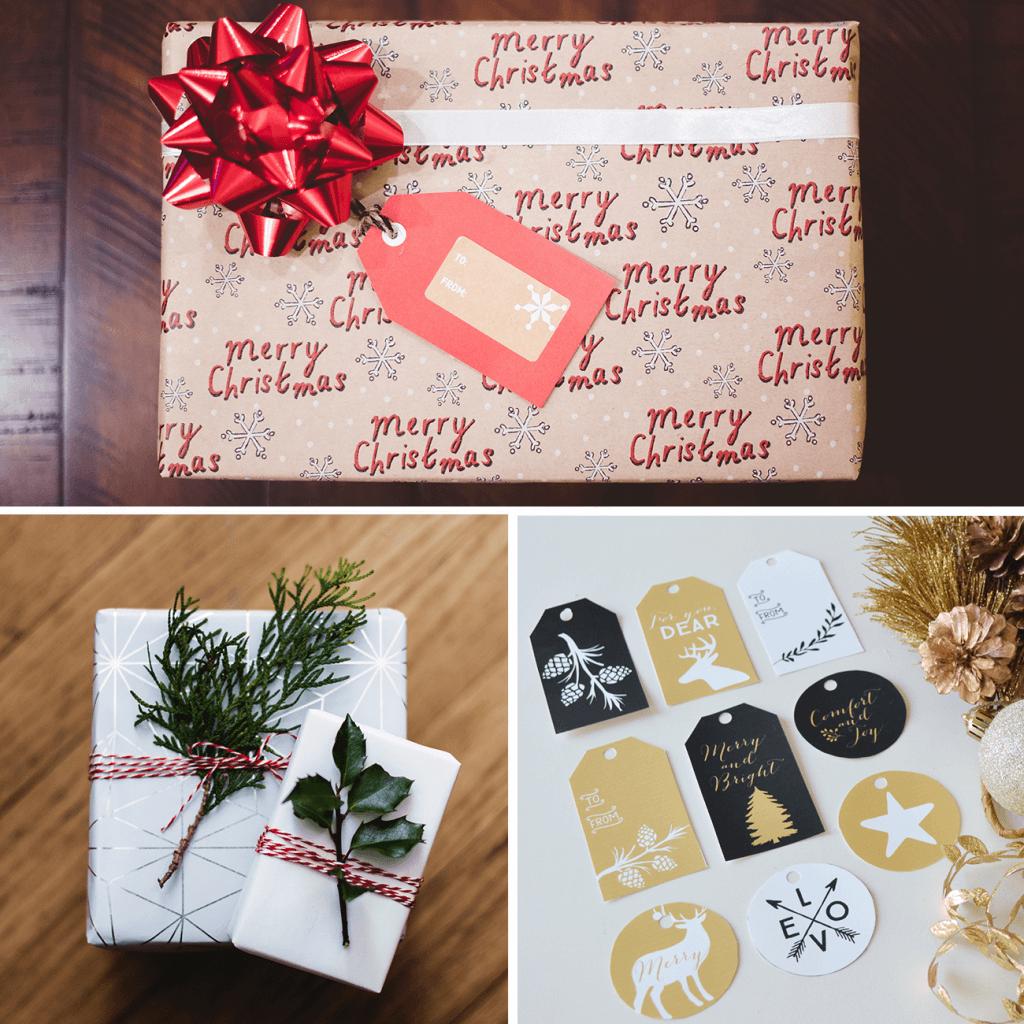 adornos navideños para packaging y embalajes