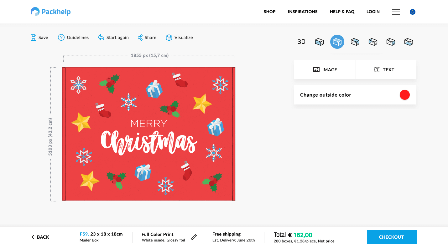 projektowanie świątecznego opakowania