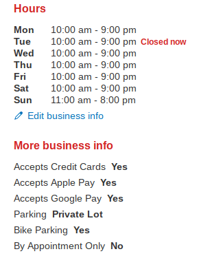 yelp business details