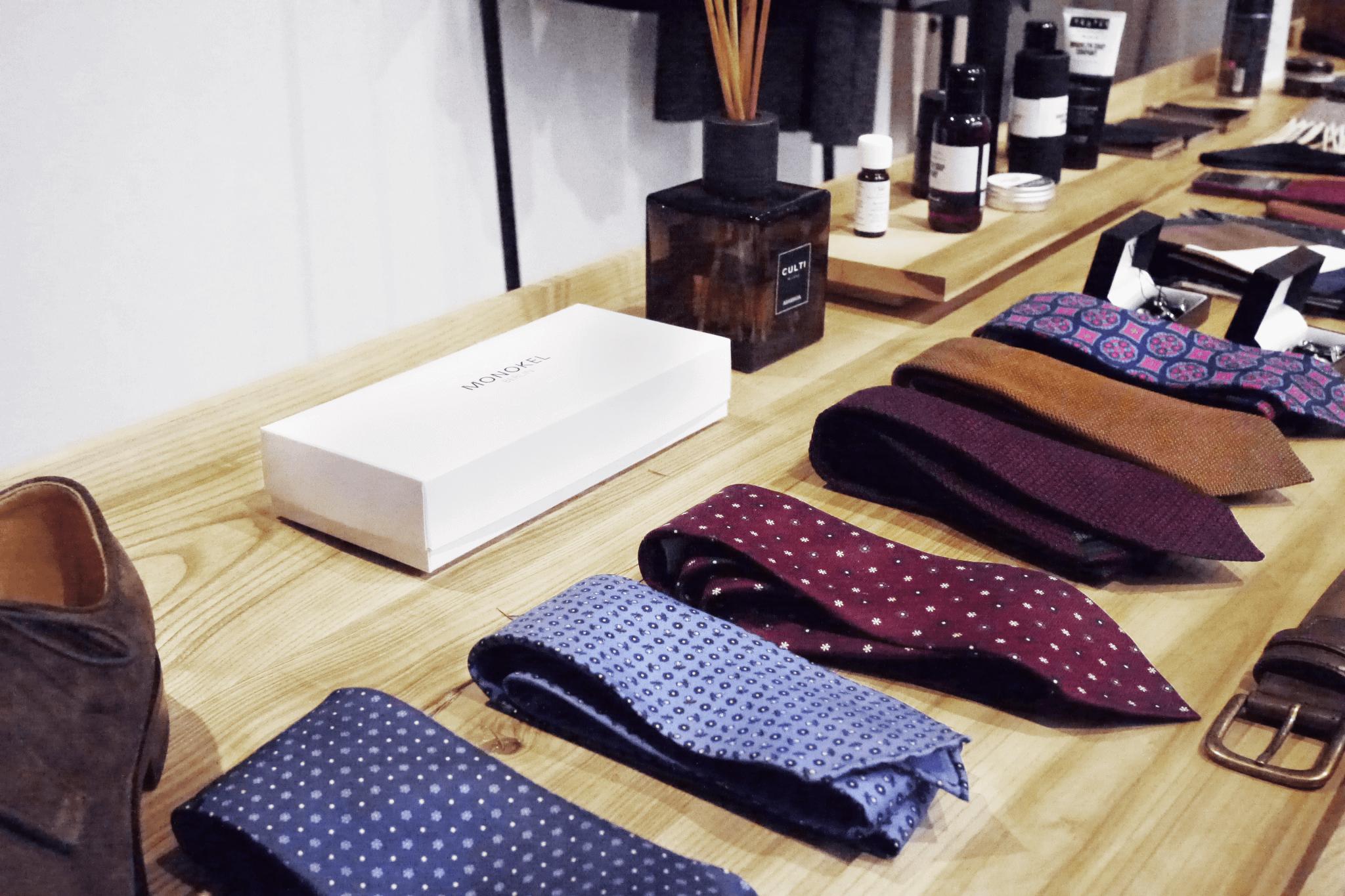 Cravates dans un magasin Monokel à Berlin