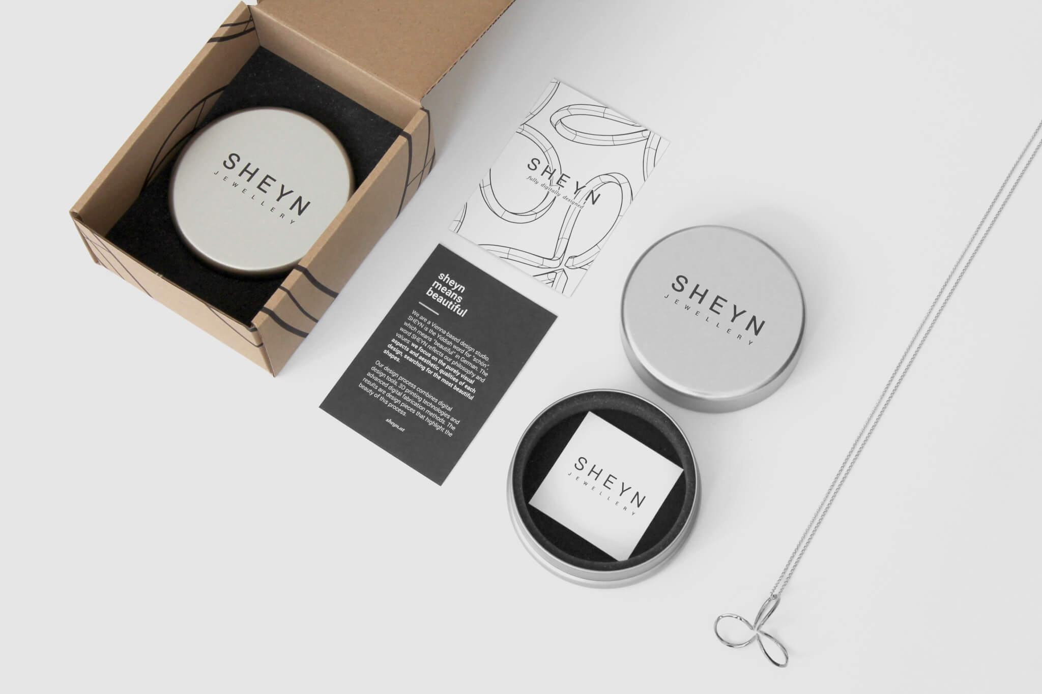 SHEYN packaging design