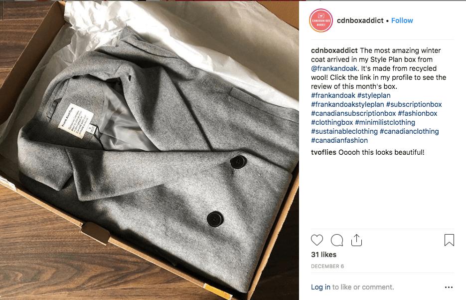 Expérience d'unboxing sur Instagram