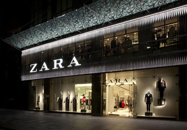Devanture d'un magasin Zara, un élément important de leur branding