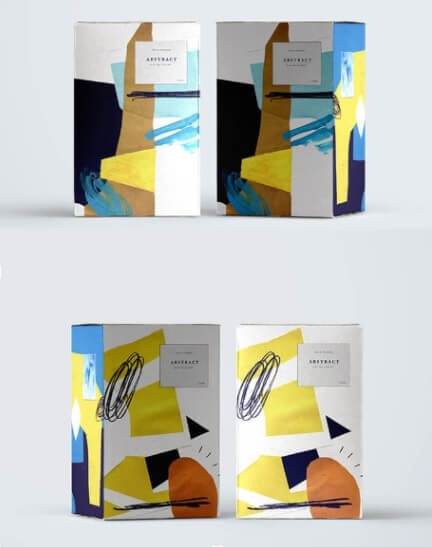 diseño de packaging abstracto