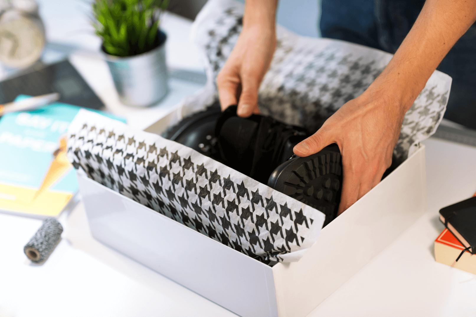 cajas para regalos con el papel tisu