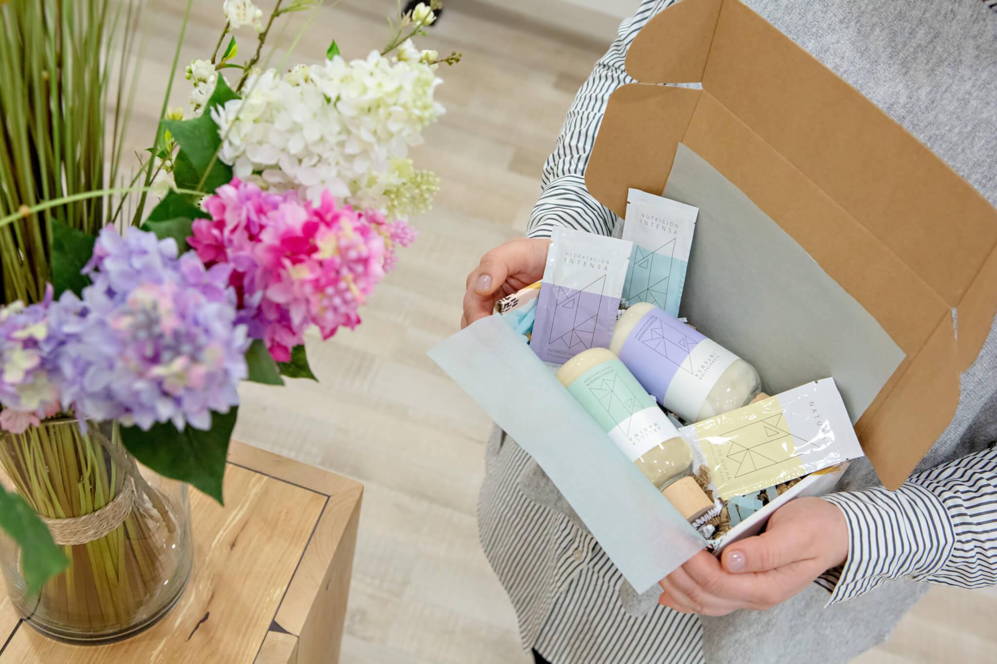 Die Verpackung von Eco Beauty Wellness