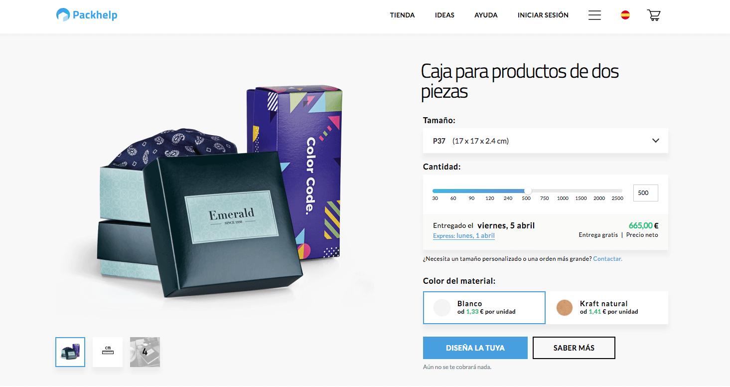 la gama de productos - cajas para productos