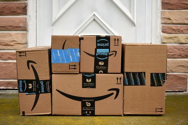 la gama de productos - cajas de amazon