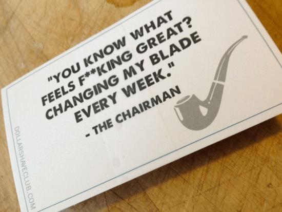 expérience d'unboxing dollar shave club