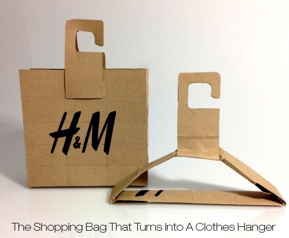 Nachhaltige Verpackung: Umfunktionierbare Papiertüte von H&M