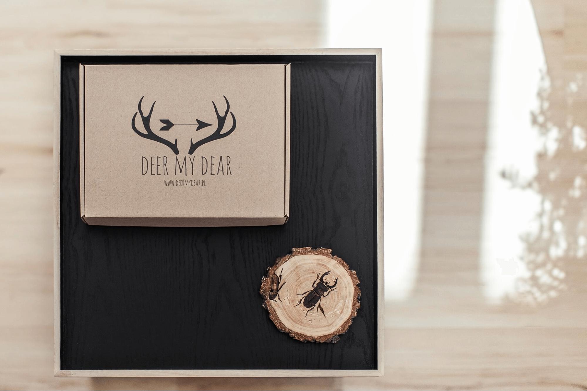 Packaging écologique personnalisé pour la marque Deer my dear