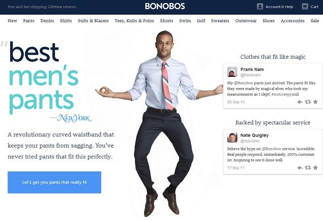 Site web de vente directe de pantalons BONOBOS