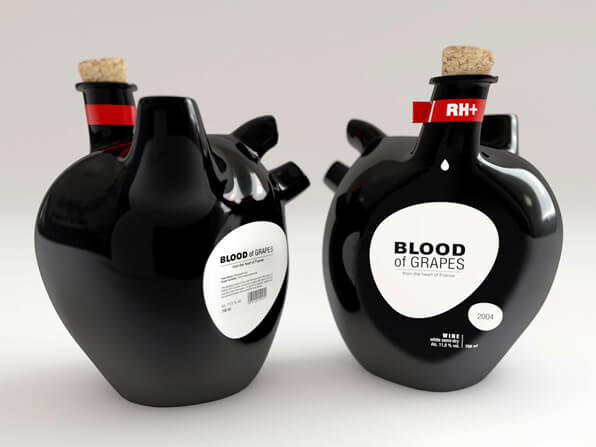 design di etichette da vino - blood of grapes