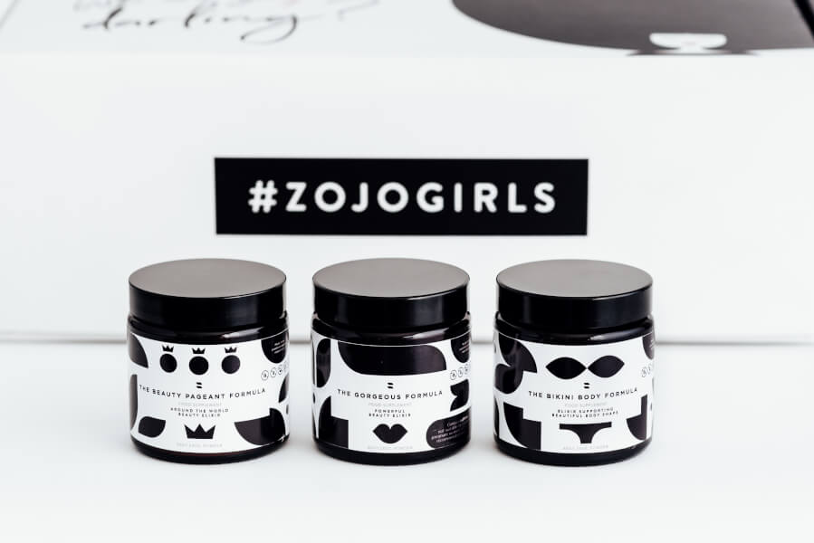 product line of zojo beauty elixirs