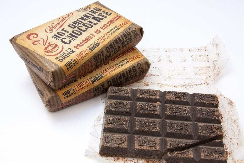 Emballage de chocolat au design naturel et rétro