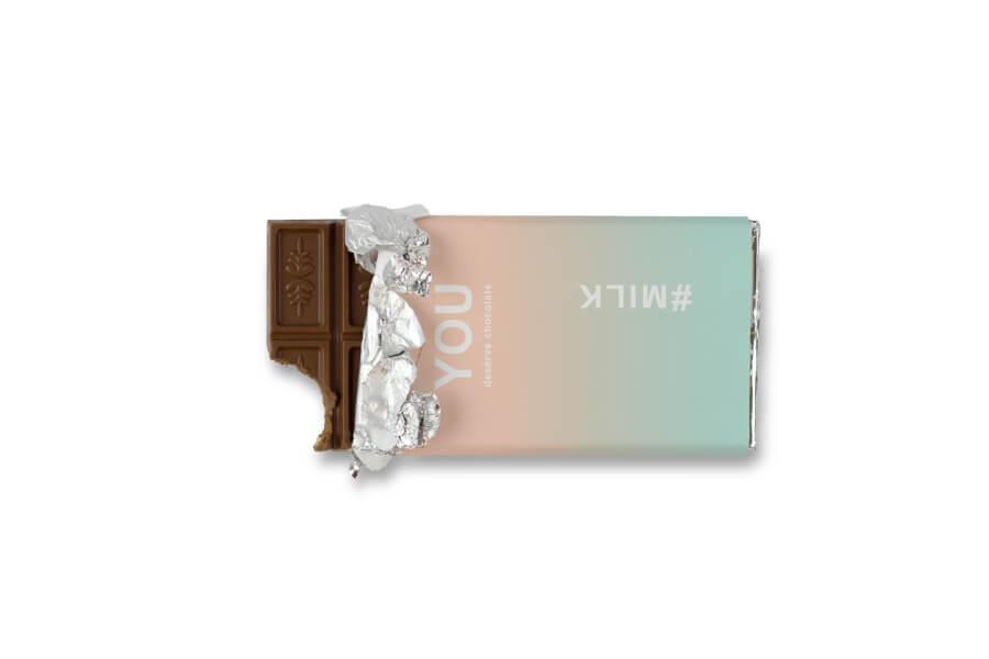 Schokoladendesign zweifarbiger Farbverlauf