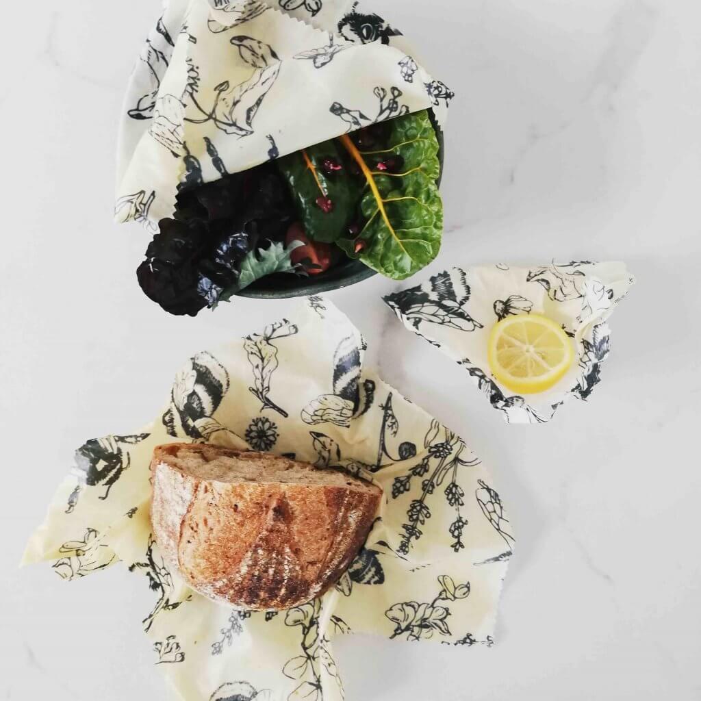 envoltorios de alimentos hechos de cera de abejas