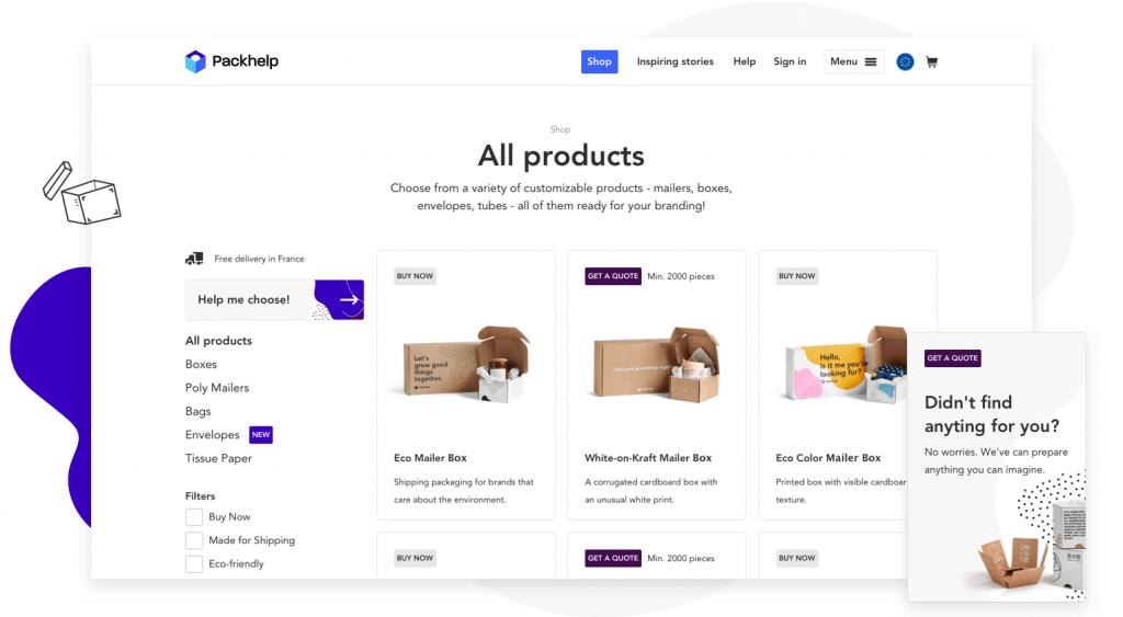 custom packaging shop