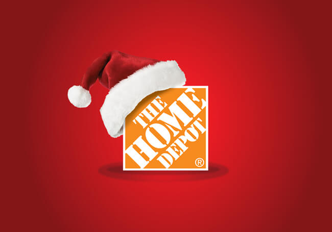 the home depot christmas logo