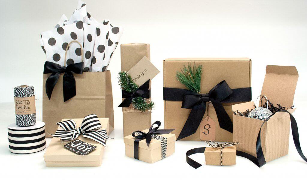 świąteczne opakowania minimalistyczne