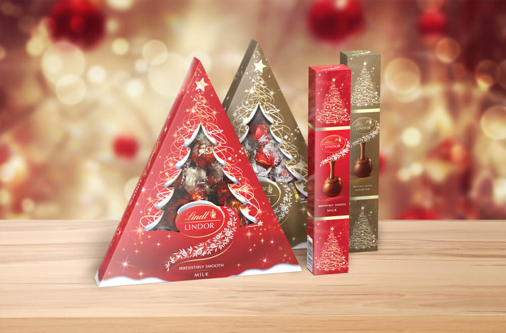 lindt chocolate product packaging