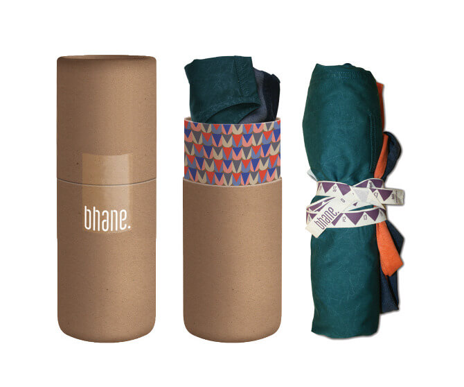 clothing in tube packaging from bhane