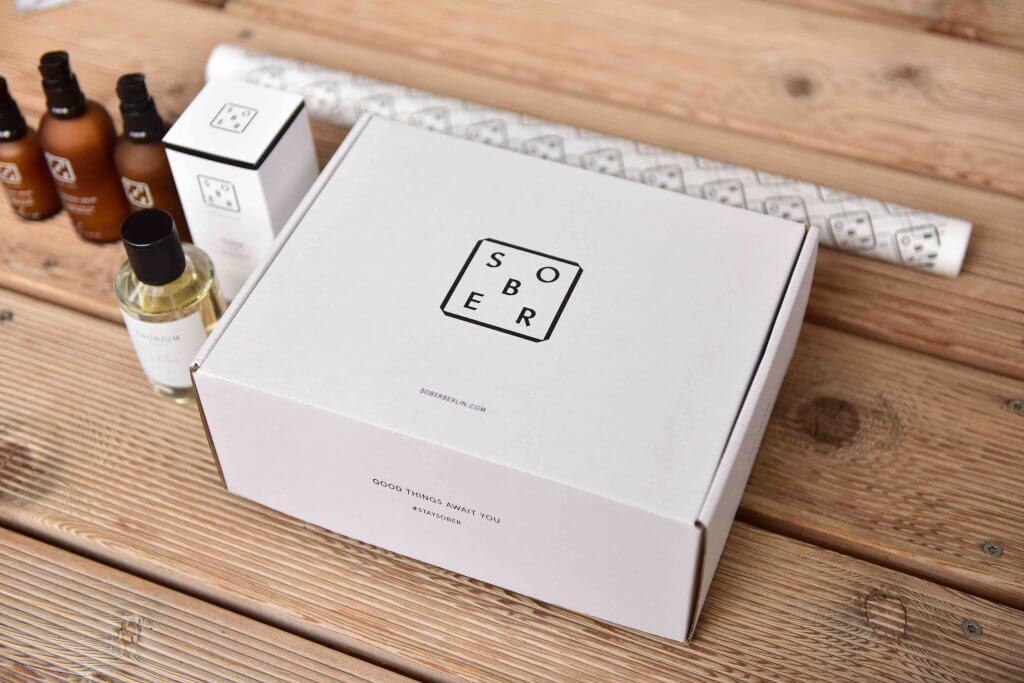 emballage et produits de la marque berlinoise Sober