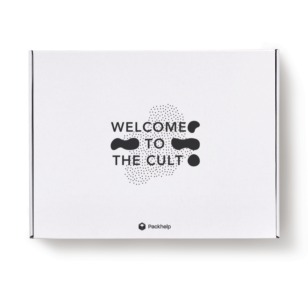 white ecommerce delivery box