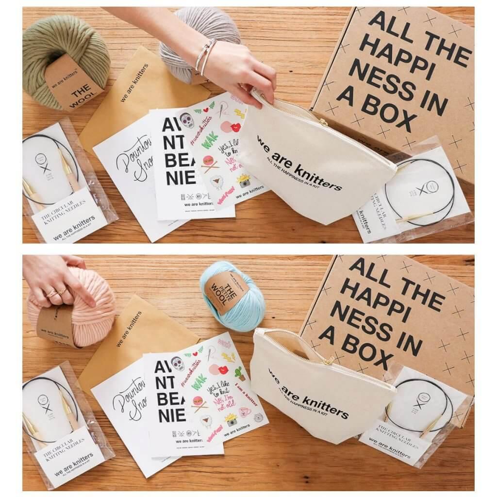 Accessori per lavoro a maglia e scatole postali eco We Are Knitters