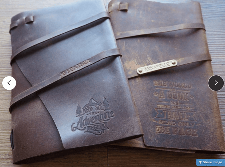 leather book etsy tips
