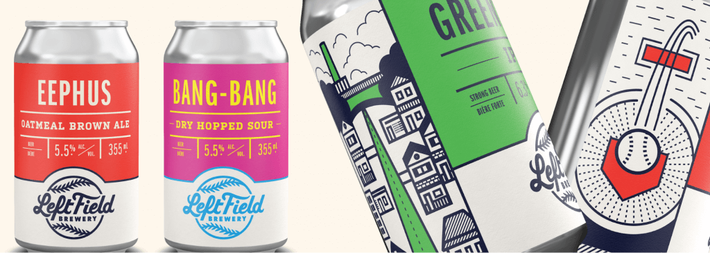 left field brewing beer packaging