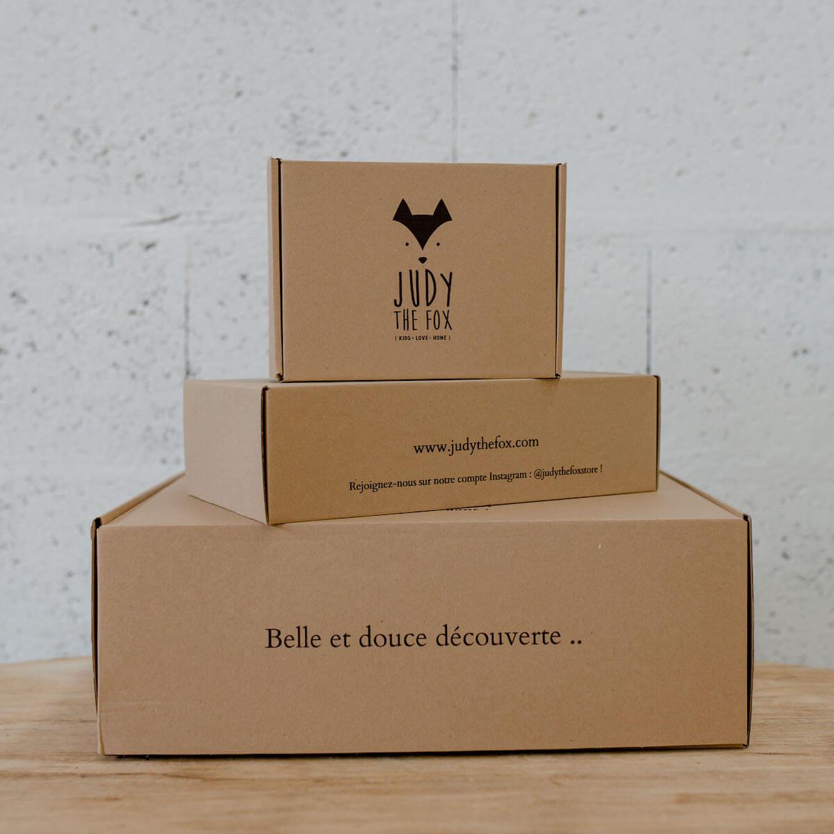 Boîtes d'expédition minimalistes Judy the Fox