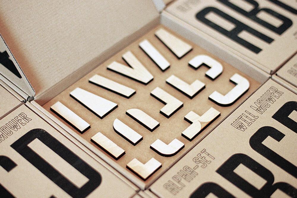 zestaw do typografii will mower
