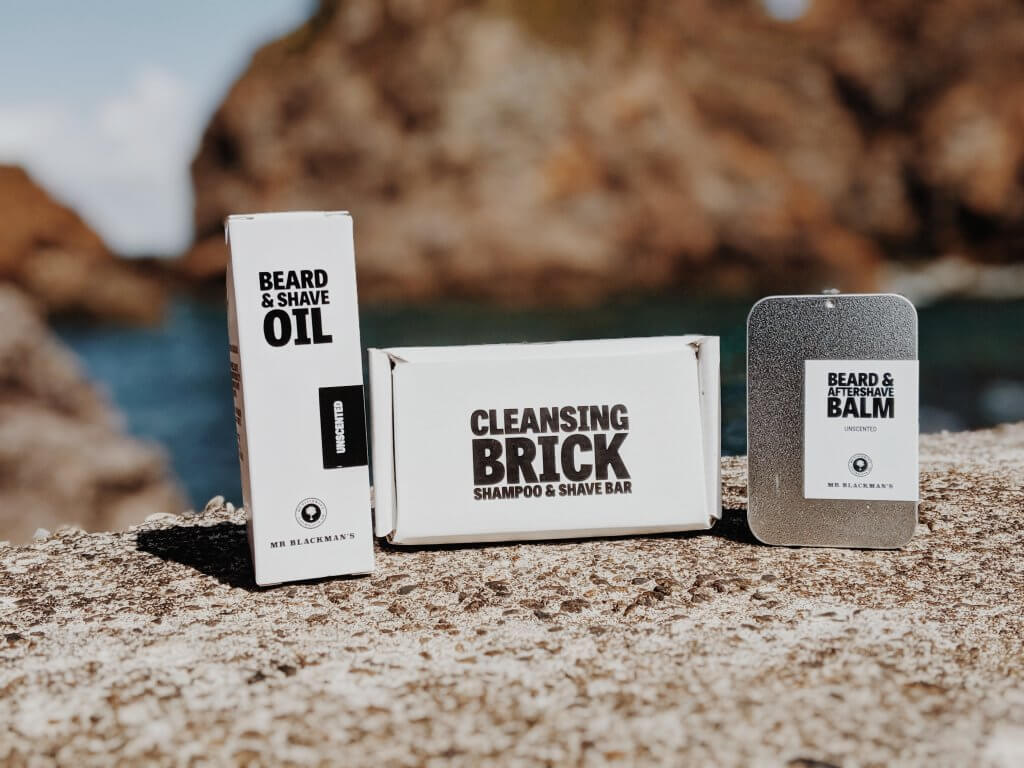 mens grooming products Mr Blackman's