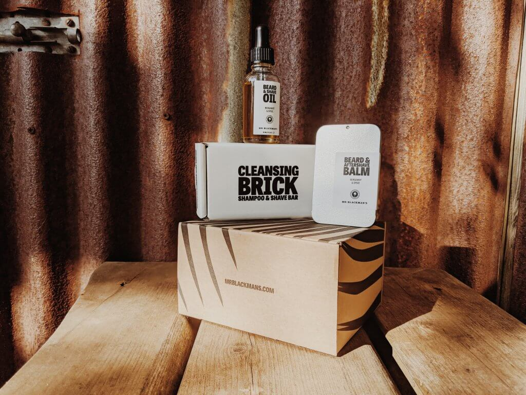 mens skincare products Mr Blackman's