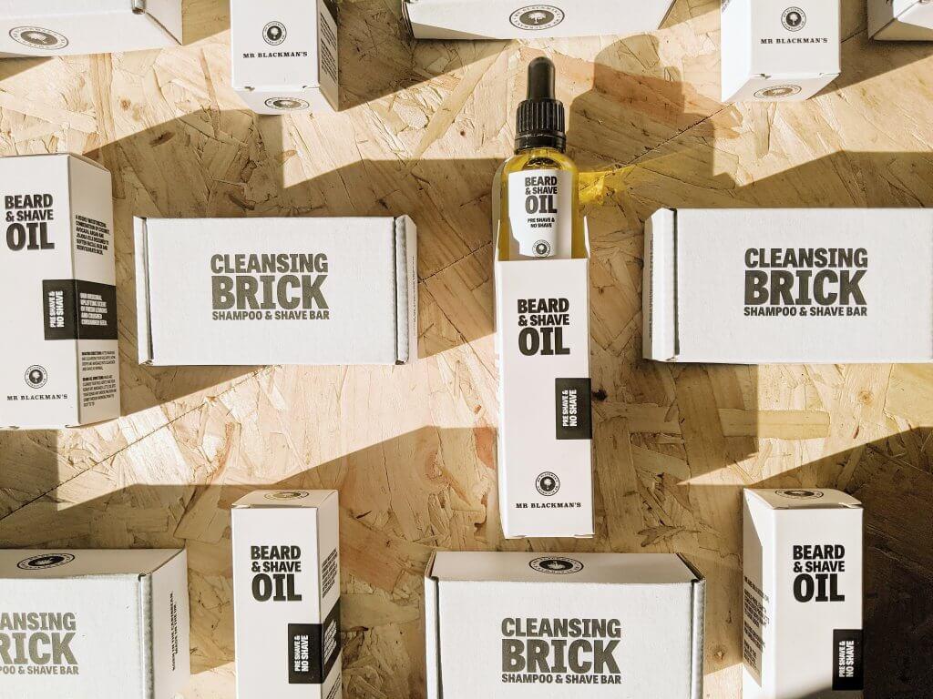 packaging for mens skincare Mr Blackman's