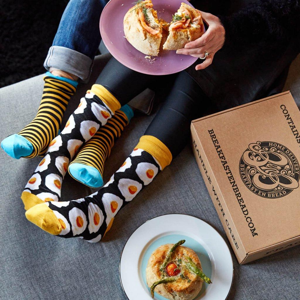 Breakfast en Bread Socks